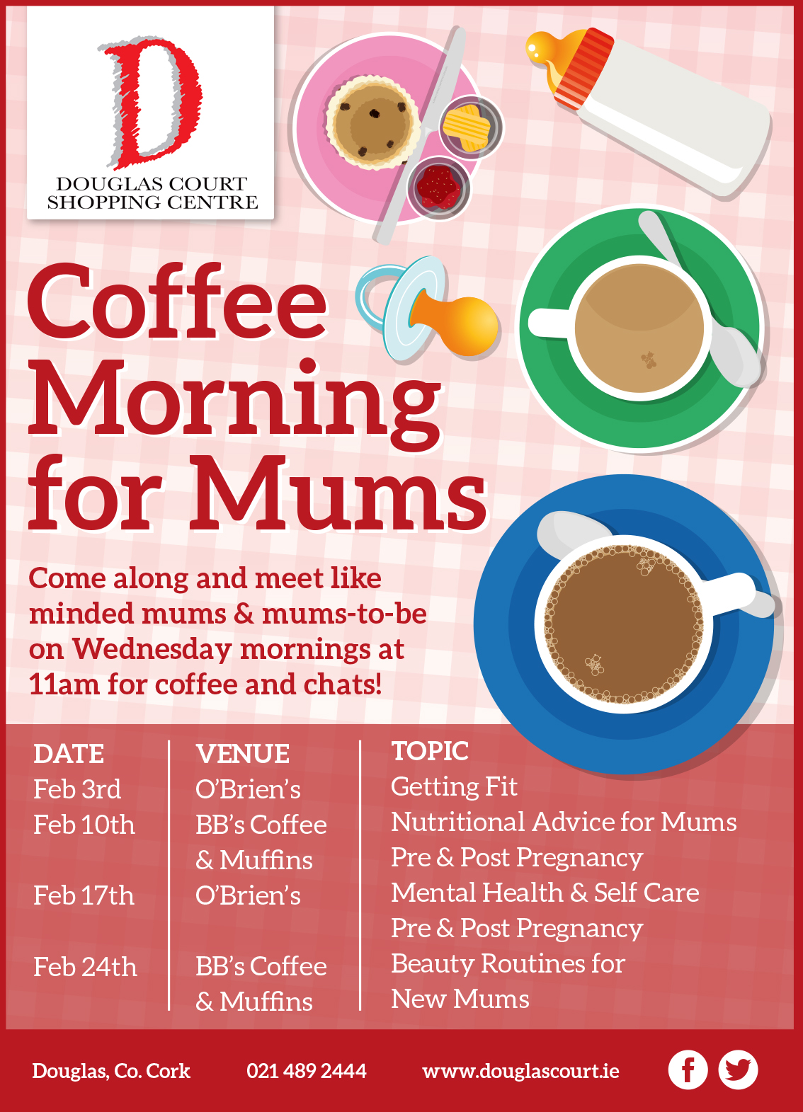 Coffee Morning for Mums Douglas Shopping Centre Cork Ireland 2016 - Parenting