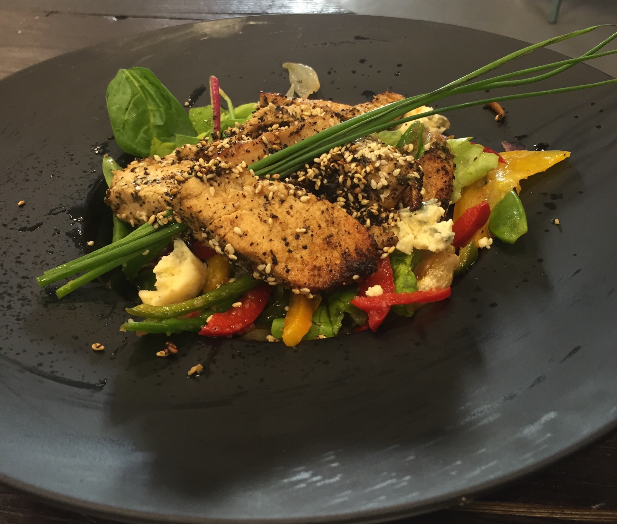 Chicken and Blue Cheese Salad at Lishh