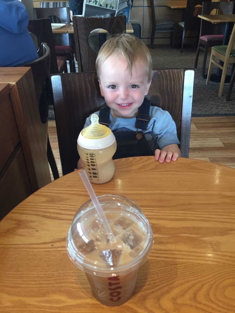 Coffee Date with the little man, good plans. BadMammy.com