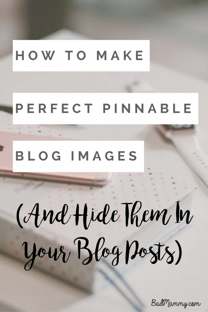 If you're looking to hide brilliantly optimised Pinnable images in your blog posts, look no further! Here's a step by step guide to how to do it!