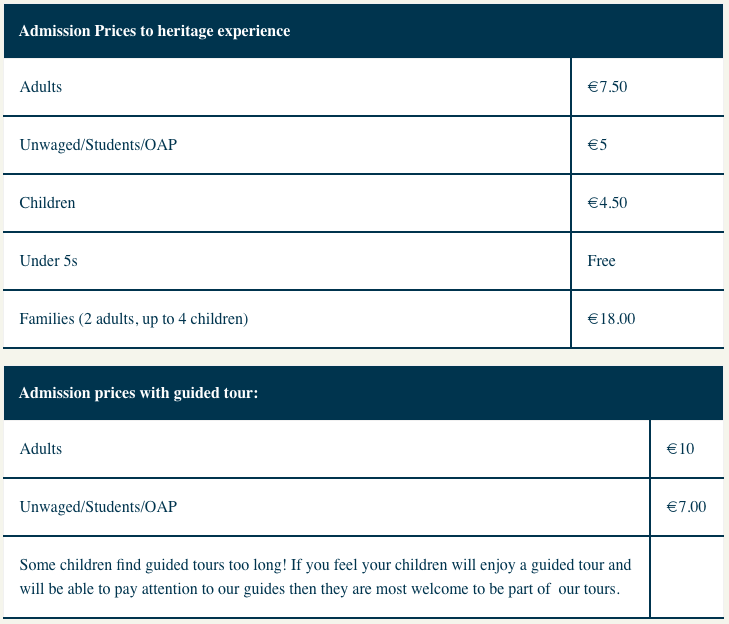 Nano Nagle Place Price List